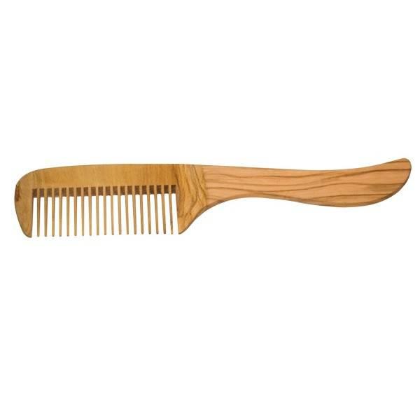 Peigne en bois avec manche