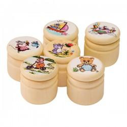 Boîte en bois pour dents de lait