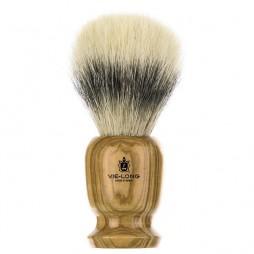 Brocha de afeitar de madera de olivo gruesa