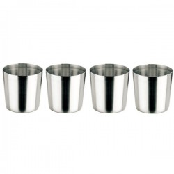 Vaso de acero inoxidable 0,33l. (Pack de 4)