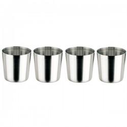 Vaso de acero inoxidable 0,33l. (Pack de 4)