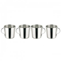 Stainless Steel Tumbler 0,33l. with Handle (Set of 4)