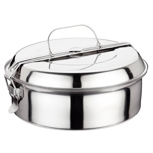 Stainless steel lunch box 24cm.