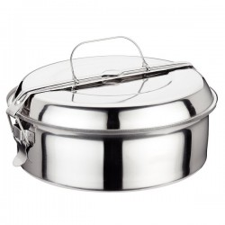 Stainless steel lunch box 14cm.