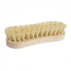 Brosse à récurer en bois et fibres végétales dures