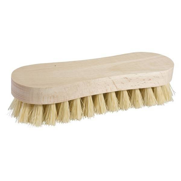 Wooden scrub brush, 8-shaped stiff