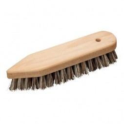 Brosse à récurer pointue en bois et fibres végétales extra dures