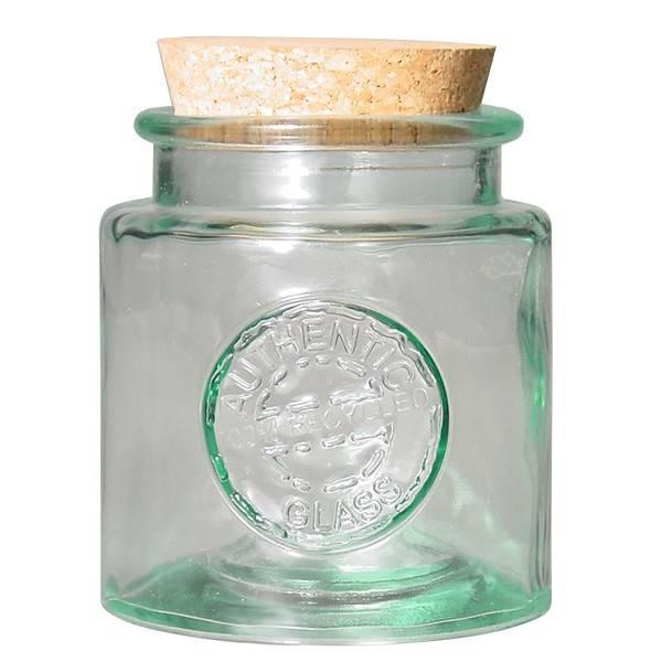 Tarro de vidrio reciclado redondo 0,5l.