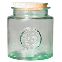 Tarro de vidrio reciclado redondo 1,5l.