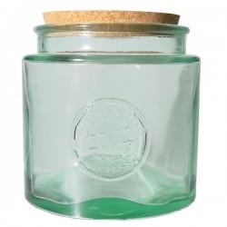 Pot en verre recyclé rond 2,3l.