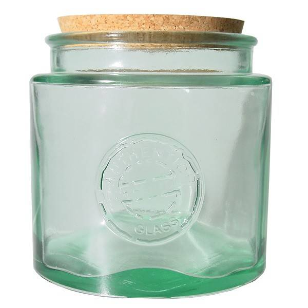 Recycled glass round canning jar 2,3l.