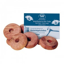 Red cedar clothes moth protection discs