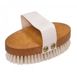 Massage Steamed Beechwood Brush with Natural Bristles