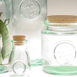 Recycled glass round canning jar 0,5l.