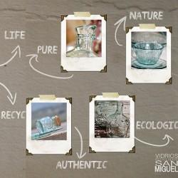 Tarro de vidrio reciclado cuadrado V. SAN MIGUEL 0,5l.