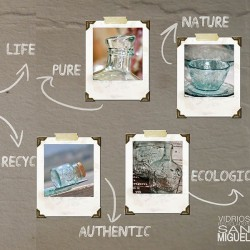 Tarro de vidrio reciclado cuadrado V. SAN MIGUEL 1,1l.