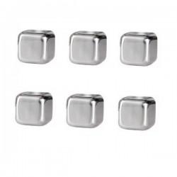 6 glaçons cubes en inox