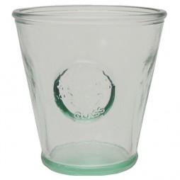 Vaso de vidrio reciclado 0,25l.