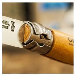 Couteau de poche en inox et bois de hêtre 8,5 cm.
