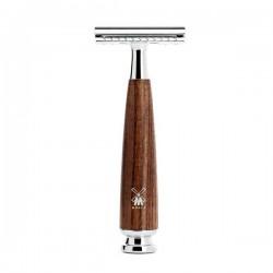 "Maquinilla de afeitar ""Rytmo"" de madera de fresno"