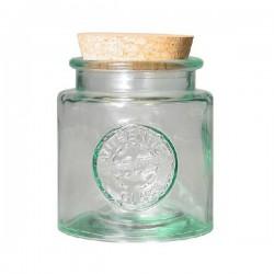Tarro de vidrio reciclado redondo 0,25l.