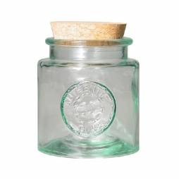 Recycled glass round canning jar 0,25l.