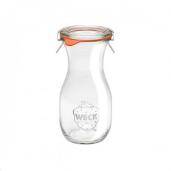 Glass bottle 0,25L. with glass lid
