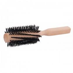 Brosse à cheveux ronde en soies naturelles et bois de hêtre Grande taille