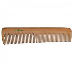 Peigne en bois aux dents normales et resserrées 18cm.