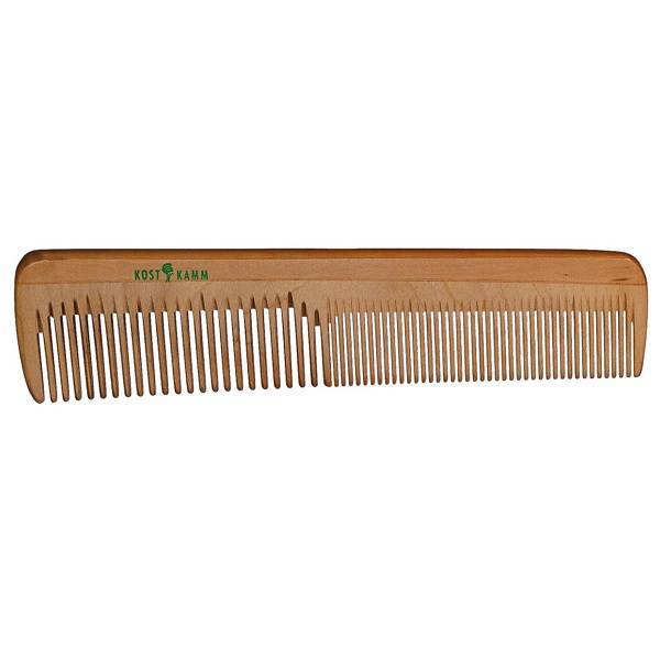 Wooden Family Comb with Regular and Narrow Teeth 18cm.
