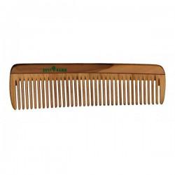 Peigne en bois aux dents normales 14cm.