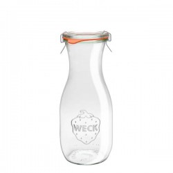 Glass bottle 0,5L. with glass lid