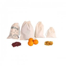 "Set of reusable produce cotton bags ""Je choisis le vrac"""