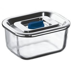 Tuper rectangular de vidrio con tapa de acero inox 0,4L. Top Serve WMF