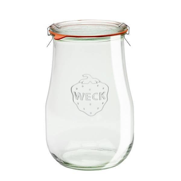 """Pot en verre rond hermétique """"TULIP"""" 1,75L."""