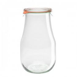 """Pot en verre rond hermétique """"TULIP"""" 2,7L."""