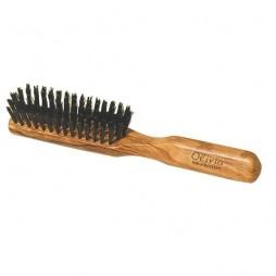 Brosse à cheveux plate en bois d'olivier