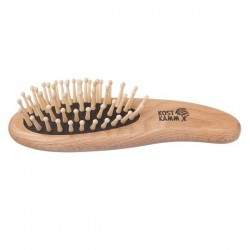 "Pocket Hair Brush with Wooden Rounded Tacks ""Dolphin"""