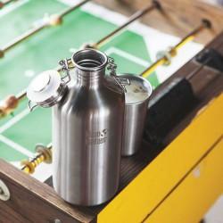 """Stainless steel Bottle """"Growler"""" 1900ml."""