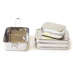"""3 in 1"" Stainless Steel Eco Lunch Box"