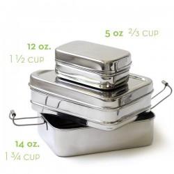 Boîte à repas en metal 3 en 1