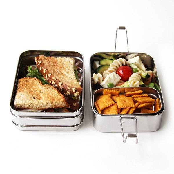 3 in 1 stainless steel eco lunch box. Black Bedroom Furniture Sets. Home Design Ideas