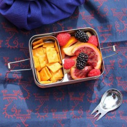 """""""3 in 1"""" Stainless Steel Eco Lunch Box"""