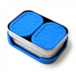 """Recipiente hermético rectangular de inox y silicona """"Splash Box"""""""