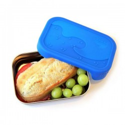 "Stainless Steel with Silicone Lid Eco Lunch Box ""Splash Box"""