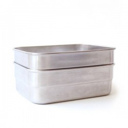 "Recipiente hermético rectangular de inox y silicona ""Splash Box"""