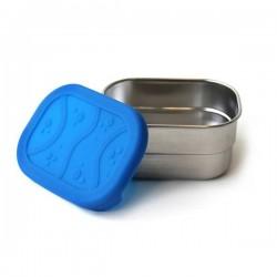 """Recipiente hermético rectangular de inox y silicona """"Splash Pod"""""""