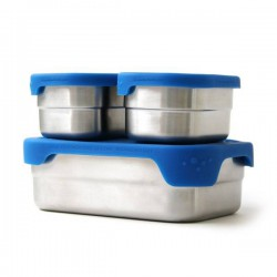 "Stainless Steel with Silicone Lid Eco Lunch Box ""Splash Pod"""""
