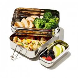 Boîte à repas en metal 3 en 1 Grand Format