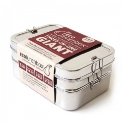 """3 in 1"" GIANT Stainless Steel Eco Lunch Box"